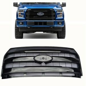 For 15 17 Ford F150 King Ranch Glossy Black Front Grille Insert New Replacement