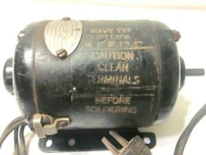 Vintage General Electric A c Motor Model 5pr 56hc Rpm 8000 Navy Typ Usa
