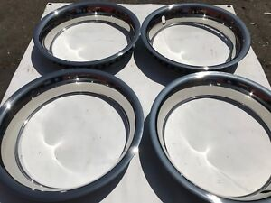15 Inch Beauty Trim Rings 3 Stainless Steel Set Of 4 Deep Large 15x8 15x10