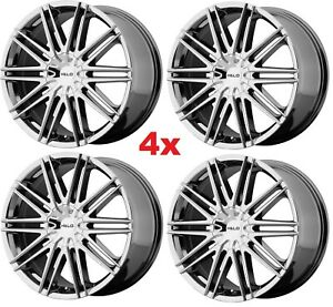 20 Chrome Wheels Rims Asanti 6x132 6x120 Forgiato Lexani Ltz