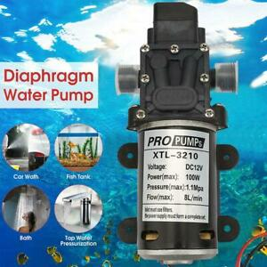 12v 100w Diaphragm Self Priming High Pressure Water Pump With Pressure Switch