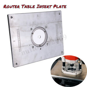 Aluminum Router Table Insert Plate For Diy Woodworking Bench Engraving