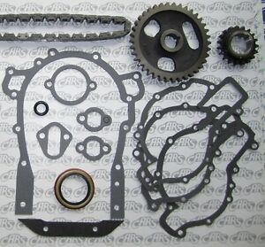 1957 1966 Buick Timing Chain Gears Gasket Kit Nailhead 364 400 401 425 C I