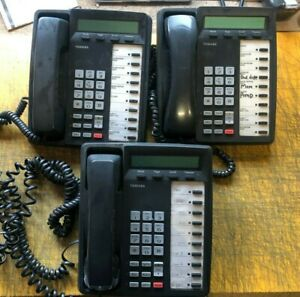 Lot Of 3 Toshiba Dkt3010 sd Office Desk Phones Business