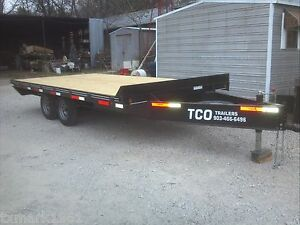 New 2019 96 x16 Custom Haul Freight Utility Deckover Over The Axle Trailer