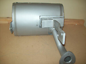 Replacement Muffler To Fit Ford Backhoe 555c 555d 655c 655d Non Turbo