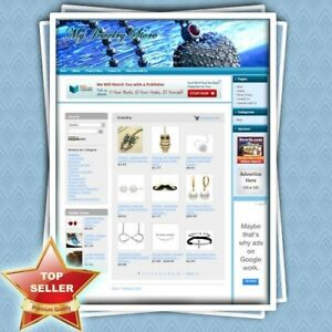 Jewelry Store Complete Work at home Affiliate Website Amazon google dropship