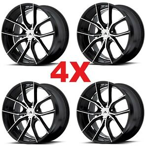 22 Staggered Camaro Wheels Rims Black Milled 5x120 Ss Rs Ls Lt Zl1 Le