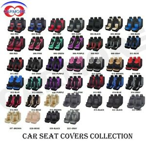 Full Front Rear Universal Car Seat Covers Built in Sponge Breathable Cushioned