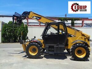 2015 Caterpillar Th414c Telescopic Boom Forklift 8 800 Lbs Cab 4x4