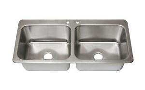 Bk Resources Ddi2 20161224 Two Compartment 2 20 X 16 Bowls Drop in Sink