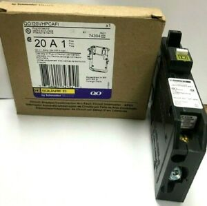 10 Pcs Square D Qo120vhpcafi Gfci Circuit Breaker 20 A 1 pole Plug in