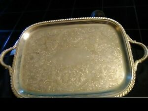 16x9 5 Silver Coated Epc Etched Butler Tray