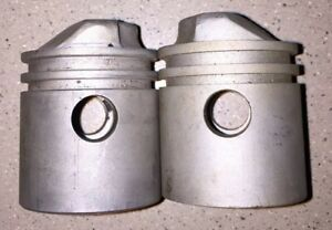 Maytag Twin Cylinder Engine Pistons Vintage Motor Antique
