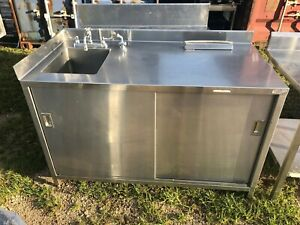 Heavy Duty 60 5 X 30 Commercial Stainless Steel Table Sink Cabinet Combo