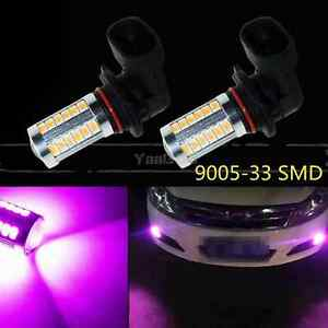 33smd Purple 9005 Hb3 Led Car Fog Light Truck Bulbs Lamp