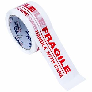 Tape Logic T901p02 Fragile Tape Packing Tape 2 X 55 Yd Roll 2 2 Mil