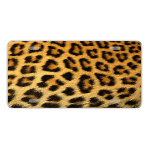 Custom Personalized License Plate Auto Car Tag With Cheetah Background Add Text
