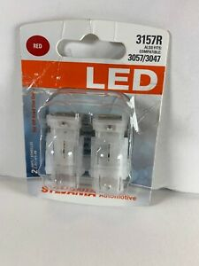 Sylvania Super Bright Red Led 3157 3057 3047 Brand New Free Ship Made In Italy