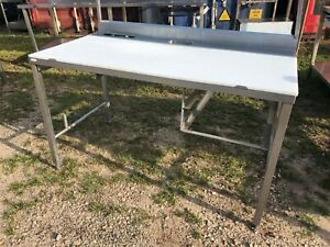 Heavy Duty 5 X 31 Stainless Steel Polytop Fish Meat Poly Board Cutting Table
