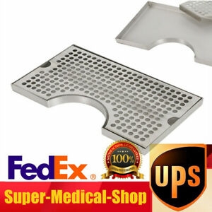 12x7 Beer Tower Drip Tray Stainless Steel Cutout Draft No Drain Removable Grate