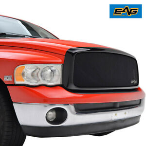 Eag Fits 2002 2005 Dodge Ram 1500 2500 Mesh Grille Matte Black Replacement