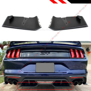 For 2018 2020 Ford Mustang Gt R Style Rear Bumper Diffuser Valance Aero Foil Kit