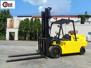 Lowry L220a Forklift Boom Truck 22 000 Lbs Propane Side Shift Fork Pos