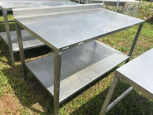 Boston Metal Heavy Duty 5 X 30 Commercial Stainless Steel Prep Work Table Nsf