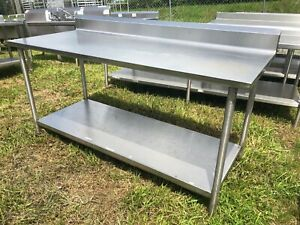 Heavy Duty 6 X 30 Commercial Stainless Steel Prep Work Table With Bottom Shelf
