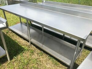 Heavy Duty 8 X 30 5 Commercial Stainless Steel Prep Work Table W Bottom Shelf
