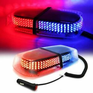 Red Blue 240 Led Car Emergency Hazard Strobe Flash Warning Roof Top Light On Off