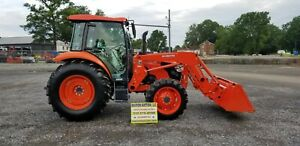 2018 Kubota M7060d Cab Loader Tractor Only 48 Hours Remaining Warranty
