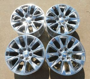 2019 Gm Chevy Silverado Suburban Tahoe 20 Alloy Wheels Oem 23377016 Free Ship