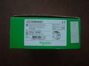 Schneider Electric Lc1d50ag7 3 Pole Contactor W everlink Terminals