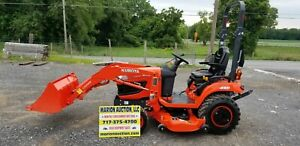 2017 Kubota Bx2370 Compact Loader Tractor W mower Only 50 Hours Warranty