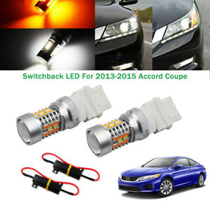 Switchback 28 Smd Led Turn Signal Lights Bulbs For 2013 15 Honda Accord Coupe