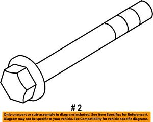 Ford Oem Rear Shock Bolts W714880s439 Set Of Two Bolts