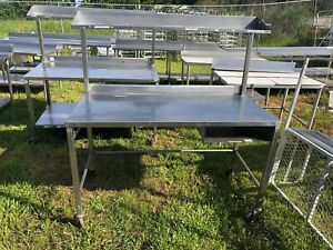 Heavy Duty 5 X 30 5 Commercial Stainless Steel Prep Food Work Table Overshelf