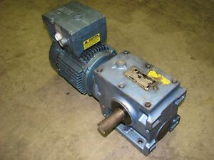 Sew Eurodrive S60d24bdt90s4 Electric Gear Motor 12 39 1 Ratio 3 phase 460volt Ac