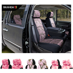 Coverking Pink Camo Custom Fit Seat Covers For Gmc Sierra 1500