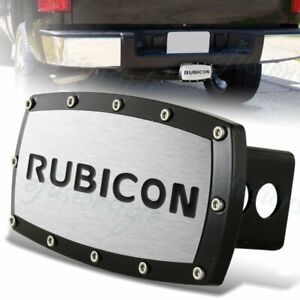 For Jeep Rubicon Hitch Cover Plug Cap 2 Trailer Receiver Black Frame