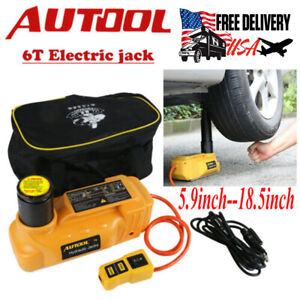 Autool 6t Auto Portable Hydraulic Electric Floor Jacks 12v Car Emergency Tool