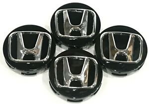 4 Pcs Wheel Center Cap Honda Black H Chrome 58mm 2 25 H2s Accord Civic