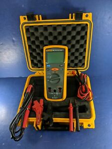 Fluke 1503 Insulation Tester Excellent Screen Protector Hard Case More