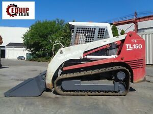 Takeuchi Tl 150 Skid Steer Track Loader Diesel Rubber Tracks