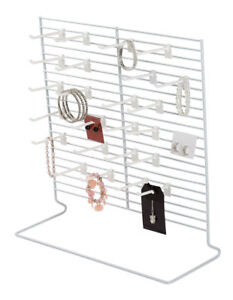 9 Countertop Peg Displays Wire Racks Jewelry Card Hanging White Stand 18 X 20
