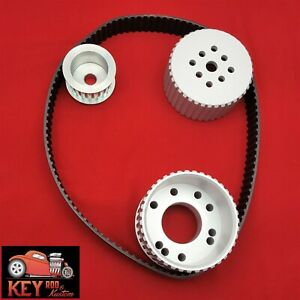 Small Block Chevy Gilmer Belt Drive Aluminum Pulley Set Long Water Pump Sbc 350
