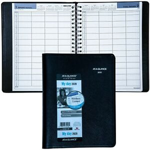 2020 At a glance Dayminder G560 00 4 person Daily Appointment Book 7 7 8 X 11