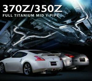 Tomei Expreme Titanium Mid Y Pipe For 2009 11 Nissan 370z Vq37vhr